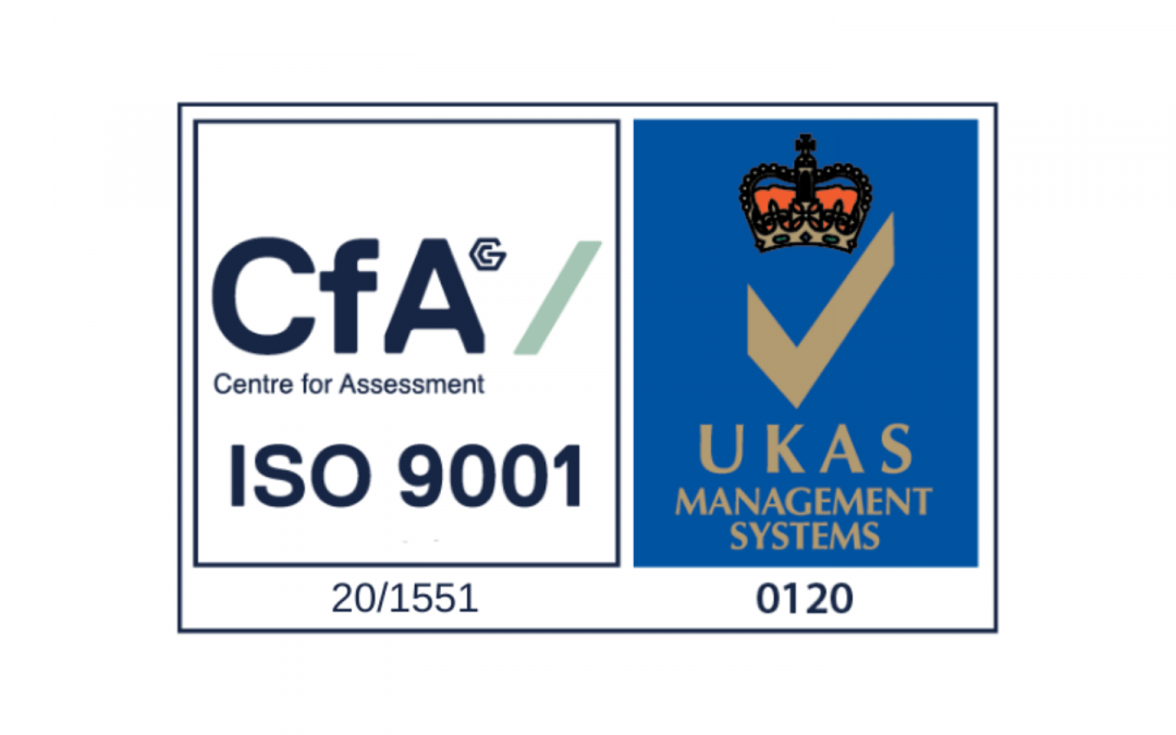We received our ISO accreditation!
